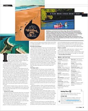 Winding Down in Wooli travel story in Coffs Coast Focus magazine, Dec 2012
