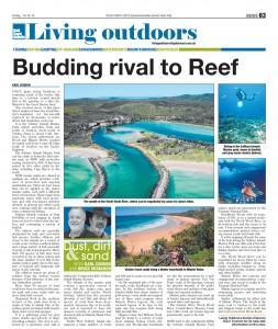 Gold Coast Bulletin Living Outdoors story on Solitary Islands Marine Park