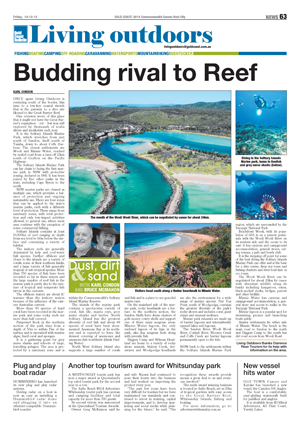 Gold Coast Bulletin travel story on Solitary Islands Marine Park, 14 Dec 2012