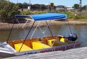 Hire a tinny on the Wooli Wooli River from Wooli River Boat Hire