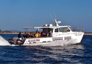 Wooli Dive Centre's scuba diving catamaran