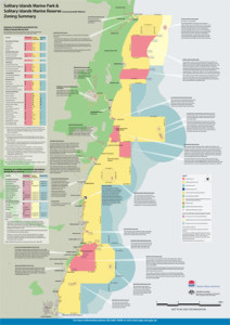 Solitary Islands Marine Park Zoning Map - small image