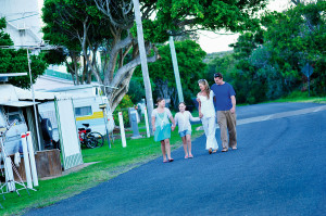 Wooli Camping and Caravan Park, opposite the pristine Wooli Wooli River