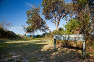 The small Rocky Point campsite at Yuraygir National Park near Minnie Water on the NSW North Coast