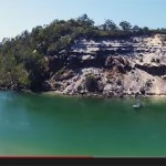 Wooli River aerial video footage from drone camera