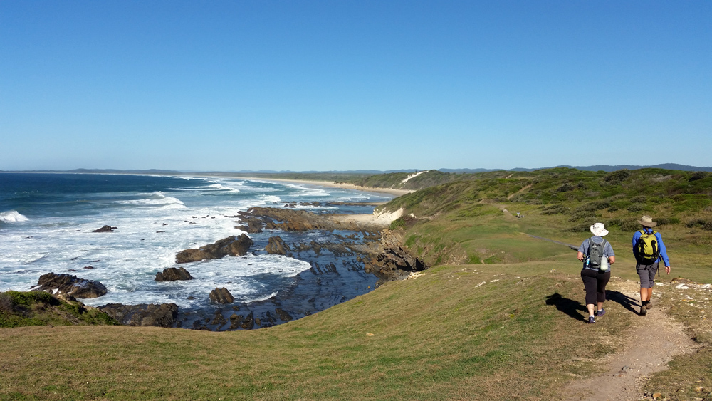 Stunning views on the guided 4-day Yuraygir Coastal Walk in Northern NSW